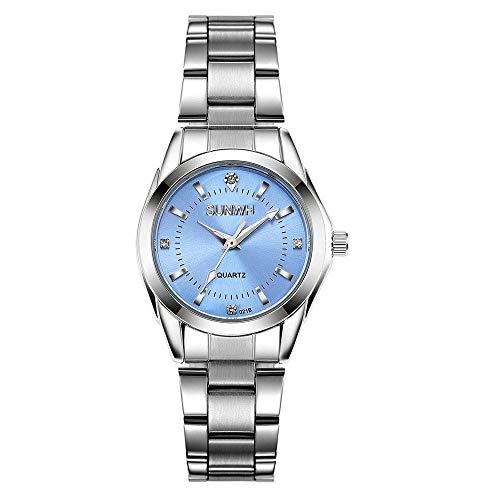 Women's Watches Gorgeous Luxury Dress Casual Fashion Waterproof Watches Diamond Rhinestone Quartz Wrist Watch(Blue)