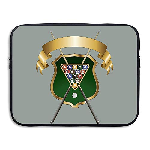Water-resistant Laptop Bags Billiards Logo Ultrabook Briefcase Sleeve Case Bags 15 Inch - Logo Billiard Cloth