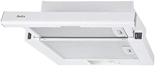 Amica OTS515W Telescópica o extraplana Blanco 350m³/h - Campana (350 m³/h, 53 dB, 65 cm, 70 cm, Telescópica o extraplana, Blanco): Amazon.es: Grandes electrodomésticos