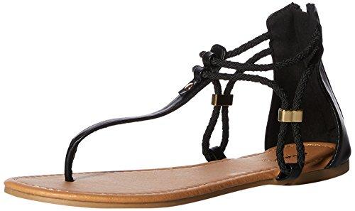 Thong Women's Black Sandal Qupid Flat C60xwFwa