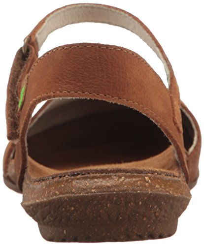 El Naturalista Women's N412 Pleasant Wakataua Closed Toe Sandals, Orange Wood