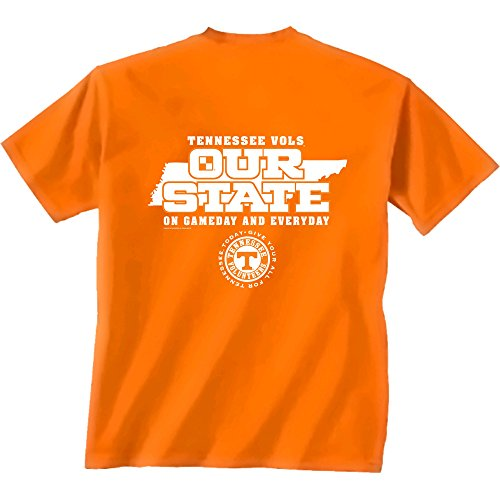 New World Graphics NCAA Tennessee Volunteers Our State Short Sleeve T-Shirt, X-Large, Orange (Alabama Shirt Iron Bowl T)