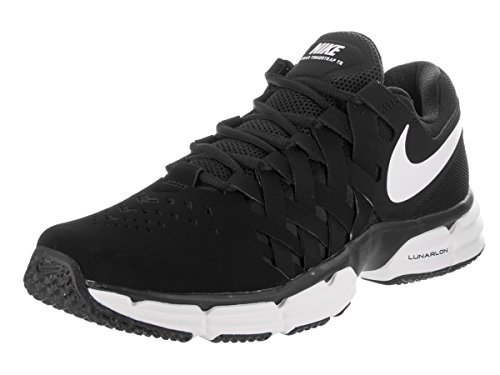 NIKE Men's Lunar Fingertrap Cross Trainer, Black/Gym Red, 9.5 Regular US