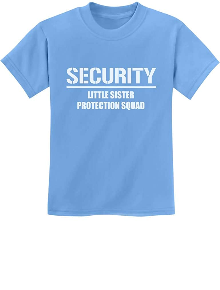 5484b194b2 Amazon.com: Gift for Big Brother - Security for My Little Sister Kids T- Shirt with Stickers: Clothing