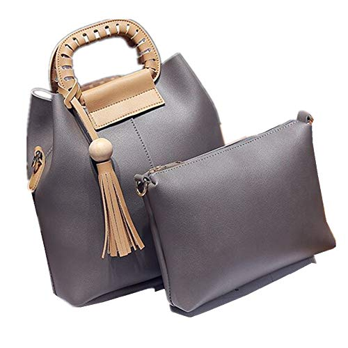 Used, FTSUCQ Womens Casual Bucket Tassels Shoulder Handbag for sale  Delivered anywhere in USA