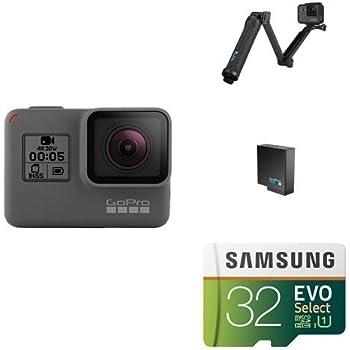 GoPro HERO5 Black w/ 3-Way Grip, Battery and Memory Card