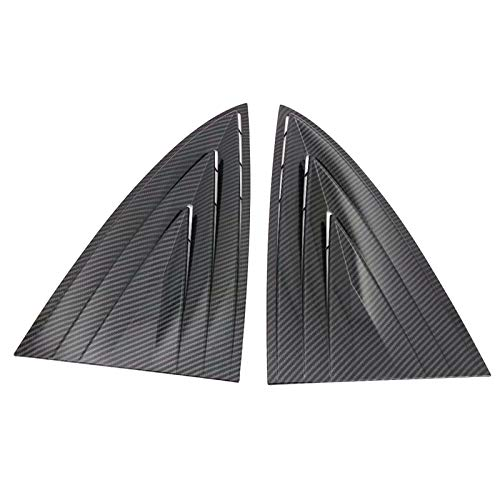 ITrims for Tesla Model 3 2018 2019 Auto Rear Back Car Side Window Louvers Vent Cover Trim Decorative 2PCS (Carbon Fiber)