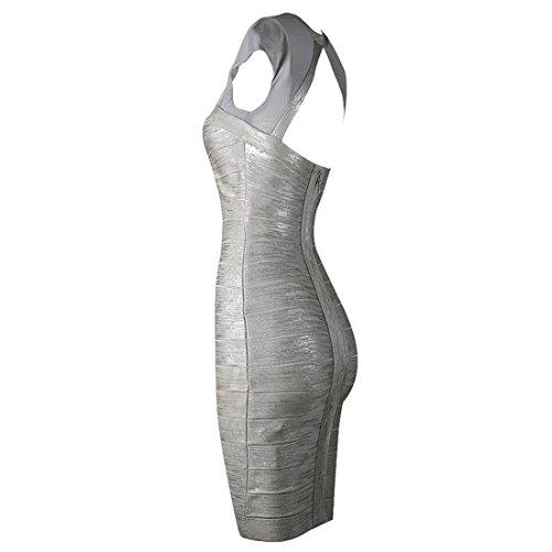 HLBCBG Schwarz Grau Schwarz Schwarz Kleid Damen rwIqvHr46S