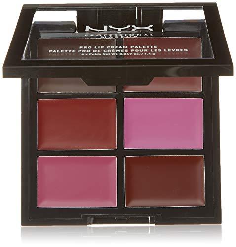 NYX PROFESSIONAL MAKEUP Pro Lip Cream Palette, The Plums, 0.317 Ounce