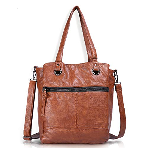 (Angel Barcelo Womens Fashion Handbags Tote Bag Cross Body Shoulder Bag Top Handle Satchel Purse Brown)
