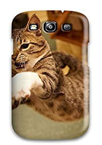 Art Marie Johnson Galaxy S3 Well-designed Hard Case Cover Cat Jump Protector