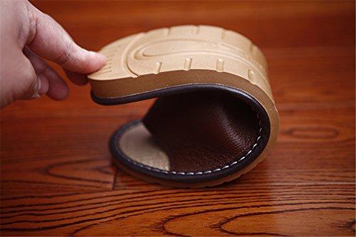 Pantofole Donne Legno Tellw Pelle Interno Casa Coperta Viola Interni Antiscivolo Da In Estate Pavimento Donna Per Coppia Uomo q1fw1gF
