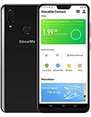 "GlocalMe S20i Unlocked Smart Phone with 1GB Global & 8GB US Data, SIM Free Roaming Free World Phone, 6.26"" FHD, Dual-SIM, 128GB, Dual Camera, Full Band Supported Black (Black, S20i)"