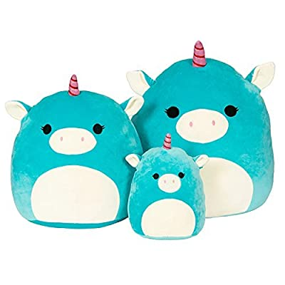 Kellytoy Squishmallow 8 Inch Ace the Turquoise Unicorn Super Soft Plush Toy Pillow Pet: Toys & Games