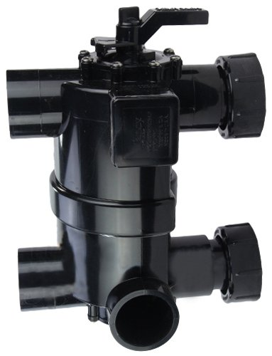 Zodiac 8034J 2-in-1 Pre-Plumbed Backwash Valve with Unions Replacement for Zodiac Jandy DEL Series D.E. Pool and Spa Filters