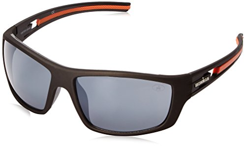 Ironman Men's Energetic Wrap Sunglasses, Matte Rubberized Metallic, 64 - Glasses Ironman