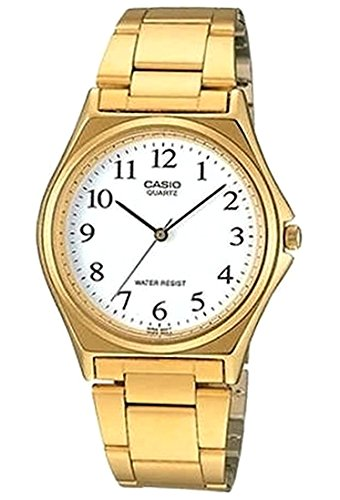 MTP-1130N-7B Watch Casio Men's Classic Stainless steel case, Stainless steel Bracelet, White dial, Japanese Quartz movement, Scratch resistant mineral, Water resistant up to 3 ATM - 30 meters - 99 feet