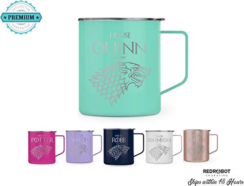 (Game of Thrones Inspired-Personalized Insulated 14 oz Insulated Coffee Mug-Made to Order-Fully Customizable, Gift for her or Him, Coffee is coming)