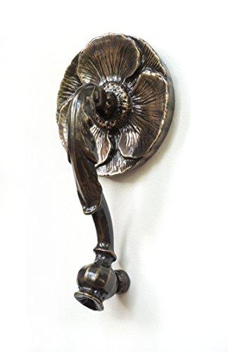 Poppy Door Knocker- Antique Bronze (Bronze)