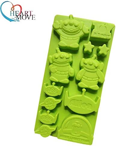 Laliva Silicone Toy Story Alien Cake Chocolate Soap Pudding Jelly Candy Ice Cookie Biscuit Mold Mould Pan Bakeware 9502
