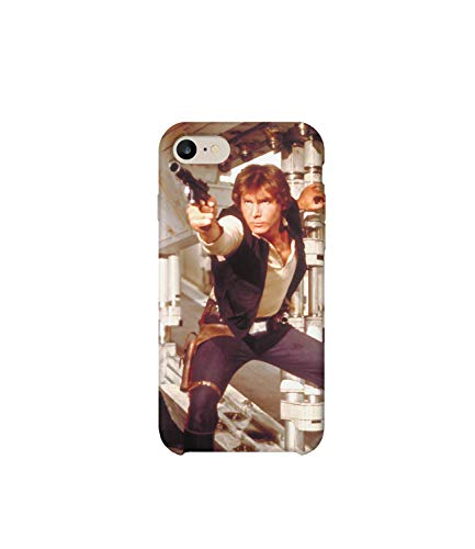 Starwars Harrison Ford Han Solo in Action iPhone 8 Plus Case, Protective Phone Mobile Smartphone Case Cover Hard Plastic for iPhone 8 Plus iPhone 8s Plus Funny Gift Christmas
