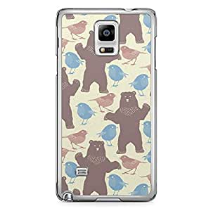 Spring Beer Chicks Pattern Samsung Galaxy Note 4 Transparent Edge Case - Animal Patters Collection