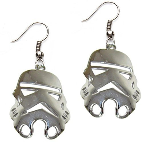 Outlander Star Wars Stormtrooper Silver Earring Dangles In Gift Box (Silver Stormtrooper Costume)