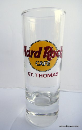 - St.Thomas Hard Rock Cafe Red Letters Cordial Shot Glass Shooter