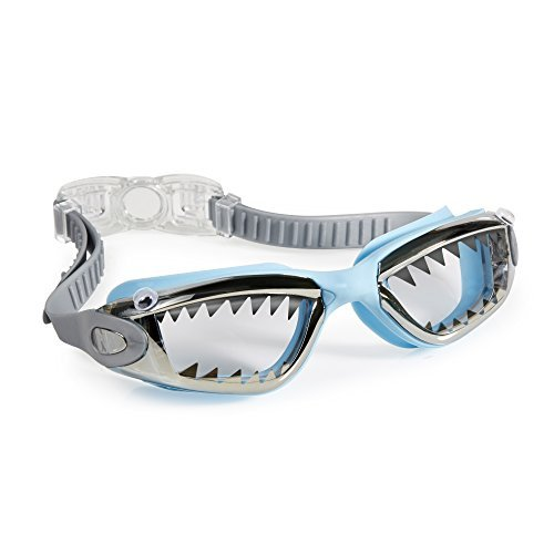 [Swimming Goggles For Boys - Jawsome Kids Swim Goggles By Bling2o (Baby Blue Tip Shark)] (Red Baron Baby Costume)