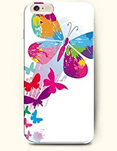 OOFIT New Apple iPhone 6 ( 4.7 Inches) Hard Case Cover - Eye-catching Butterflies