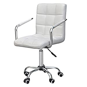 go2buy rolling white modern ergonomic swivel leather office chairs computer chair executive home office furniture on wheels