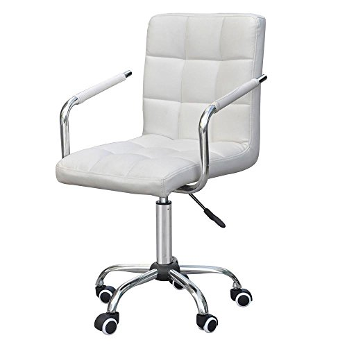 Modern Easy Chair (Gotobuy Modern Office Executive PU Leather Swivel Armrest Chair Computer Desk Task)