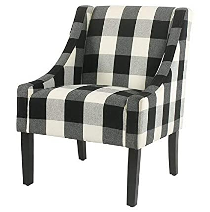 Amazon.com: Hebel Modern Swoop Check Accent Chair | Model CCNTCHR ...