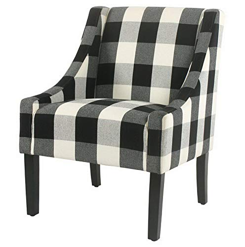 Hebel Modern Swoop Check Accent Chair | Model CCNTCHR - 15 |