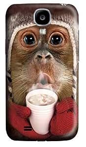 Hot Cocoa Orangutan Custom Samsung Galaxy I9500/Samsung Galaxy S4 Case Cover Polycarbonate 3D