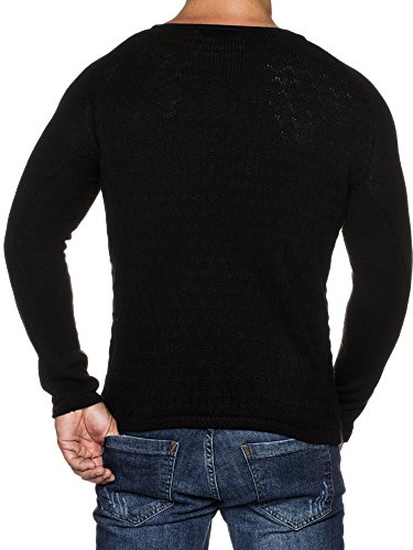 Noir Pull Styler Col Pour Tazzio Rond Homme 16404 Tricot À En PWnqqgHU8
