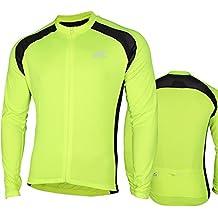 CC-UK Aerate Mens Cycling Jersey, Hi Viz Neon Yellow