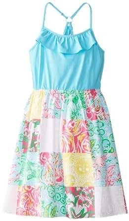 Lilly Pulitzer Big Girls' Dory Dress, Multi State Patch, Medium