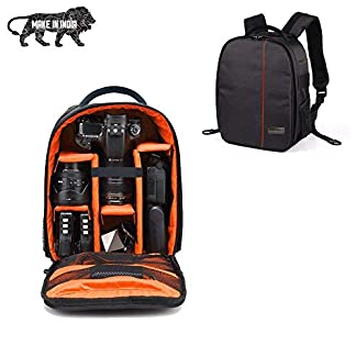 SMILEDRIVE® Waterproof DSLR Backpack Camera Bag, Lens Accessories Carry Case for Nikon, Canon, Olympus, Pentax & Others-Made in India 41rmnfwKIfL
