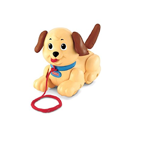 Fisher-Price Brilliant Classic Toys Pull and Push Baby Lil Snoppy (Snoopy Pull Toy)