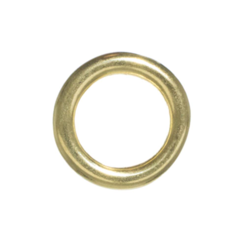 Craft County Metal O-Rings (Brass, 1/2 Inch X 100 Pack) by Craft County