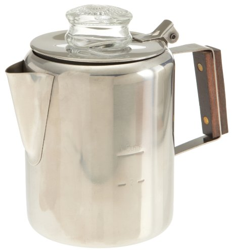 Rapid Brew Stovetop Coffee Percolator, Stainless Steel, 2-3 Cup