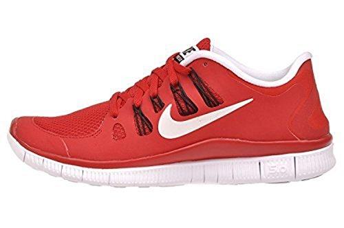 Nike Mens Free 5.0+ Breathe Gioco Running Rosso / Bianco-nero Scarpa Sintetica - 14 D (m) Us