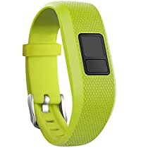 SKYLET Garmin vivofit 3 Silicone Replacement Bands with Secure Watch Clasp (No Tracker) (Lime, Standard (6.0-9.0 in))