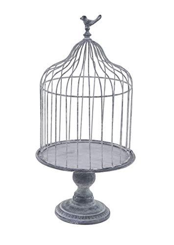 Deco 79 74885 Farmhouse Metal Birdcage Planter, 11