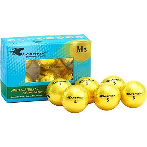 Chromax Metallic M5 Colored Golf Balls (Pack of 6), Yellow