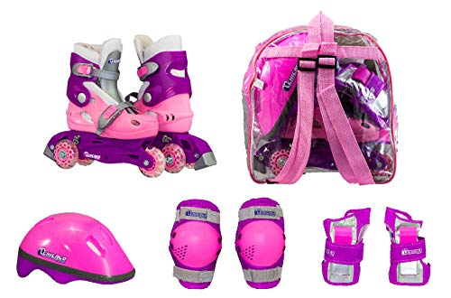 Chicago Girls Training Roller Skate Combo, Size J10 - J13 (Childrens Girls Trainers)