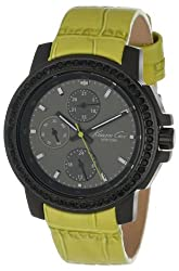 Kenneth Cole New York Women S Kc2808 Dress Sport White Multi Function Dial Stone Green Strap Watch
