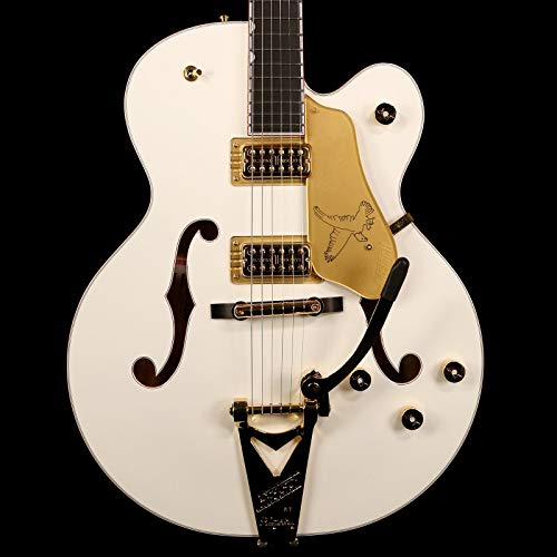 (Gretsch G6136T-WHT Players Edition White Falcon Hollow Body Electric Guitar with String-Thru Bigsby (SN:JT15103245) )