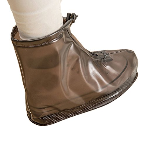 Hotsellhome 2018 New Fashion Unisex Waterproof Rain Shoes Reusable Boots Slip Resistant for Women Men Coffee uYkn1D